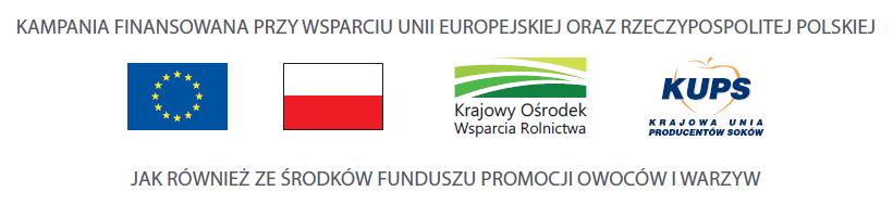 Kampania finansowana przy wsparciu UE, Rzeczpospolitej Polskiej i Funduszu Promocji Produkcji Owoców i Warzyw